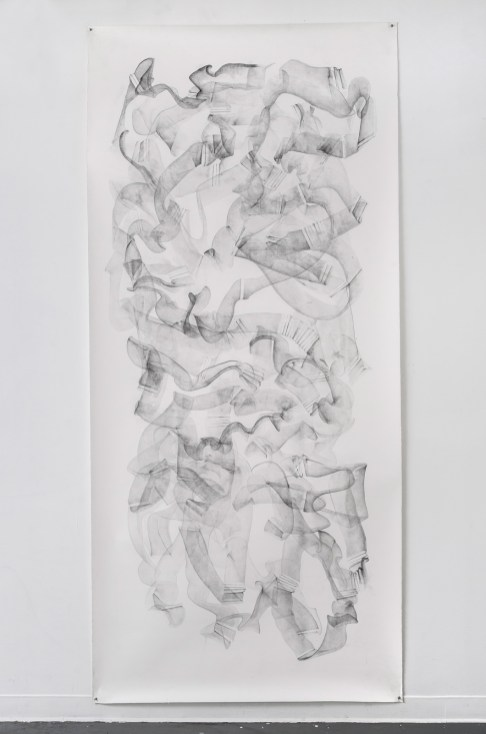 "For Emilie II, graphite on paper, 108 x 50"", 2014"