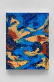 """Landscape of Opposites, oil bar & graphite on panel,12 x 9"""", 2015"""
