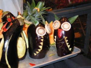 Eggplant Garnishes - Chesapeake Conference Center