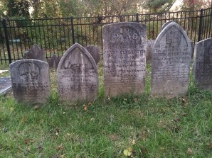 Grave Markers moved from St. Mary's Square