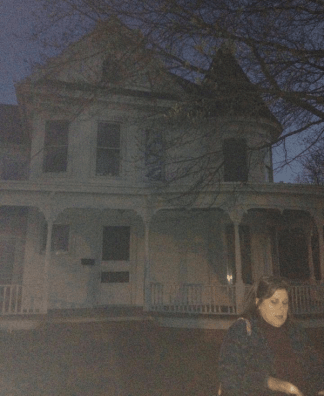 Orrie Lee Tawes House. Who is that standing next to the guide?