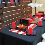 Red and White Pirate Party Ideas Table Decorations