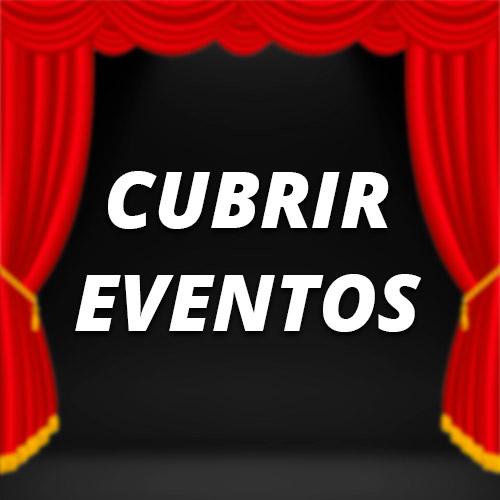 Cubrir eventos