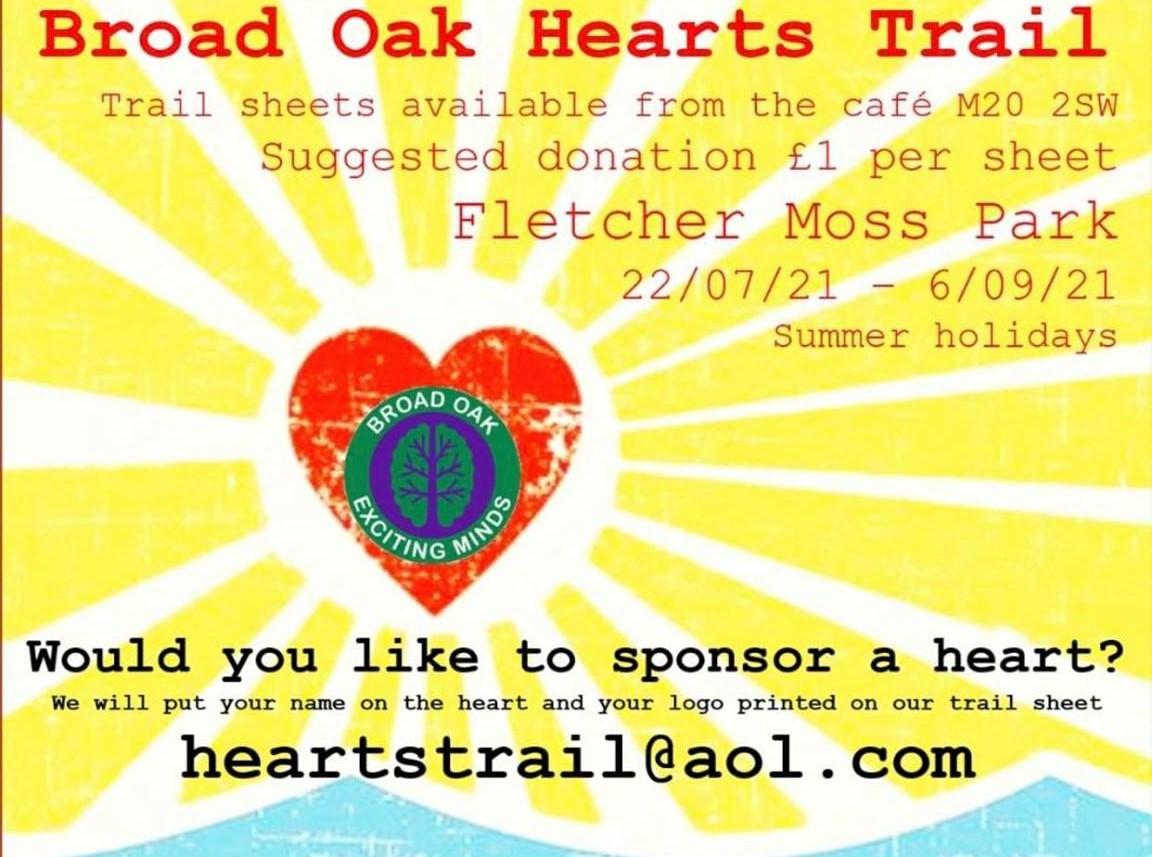 trail at fletcher moss park, broad oak hearts trail 2021