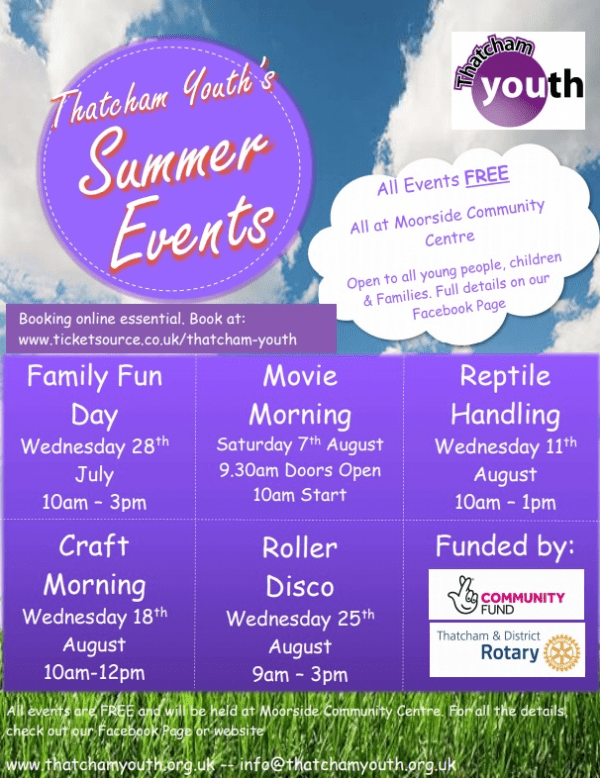thatcham family events, summer holiday family activities west berkshrire, whats on for teens newbury