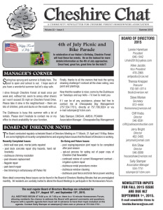 Cheshire Chat newsletter