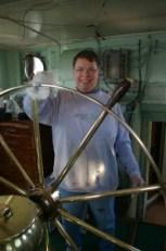 Alma polishing the wheel