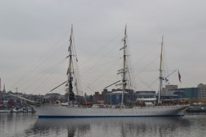 Photo by Anne Puppa Tall Ship leaving Baltimore Harbor during our work day.