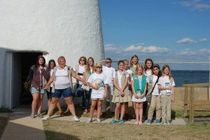 Girl Scout Troop 4948 completed the 9th MD Lighthouse Challenge at Cove Point! They visited 9 lighthouses and 1 lightship in two days! Photo by Kaye Gonterman