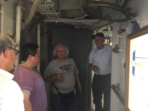 Group plans how to run wire.