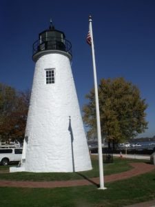 Concord Point light sparkles with new coat of paint.