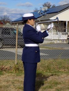 Bugler plays taps