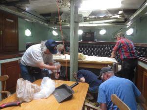 Crew working in ward room