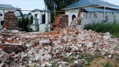В Муроме во второй раз за полгода обрушилась стена монастыря