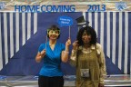Mrs. Sun and Mrs. Whitfield (Chesnutt Library Photo Booth), Homecoming 2013, Fayetteville State University)