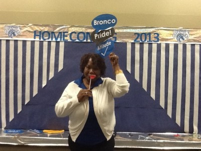 Mrs. Amerson (Chesnutt Library Photo Booth), Homecoming 2013, Fayetteville State University)