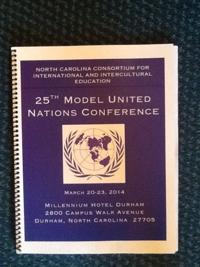 2014 NCCIE Model United Nations