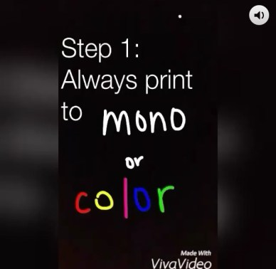 How-to videos on printing