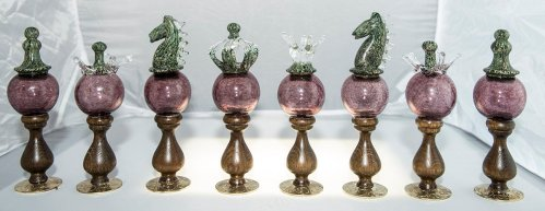 Murano Blown Glass Chessmen