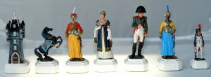 Napoleon vs Wellington Chess Pieces