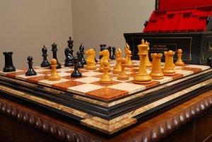 "Amboyna Burl Ebony Chessboard, 2-1/2"" Squares"