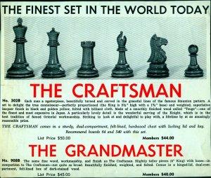 Craftsman Chessmen Ad