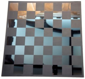 Mirrored Glass Chessboard
