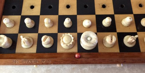 Jaques In Statu Quo Travel Chess Set, Type I