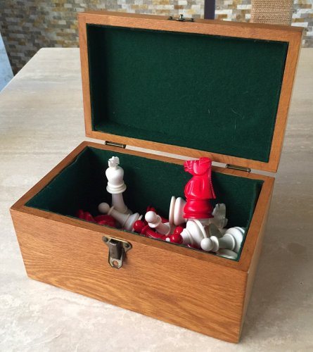Baruch Harold Wood Antique Ivory Chess Set