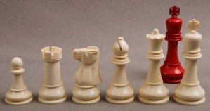 Antique Baruch H Wood Staunton Chess Set