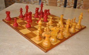 William Pinney Antique Chess Set, Tournament Size
