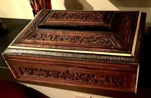 Antique Vizagapatam Ivory and Sandalwood Chess Set