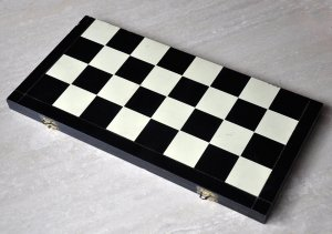 "Folding Leatherette Chessboard, 1-7/8"" Squares"
