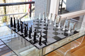 ALCOA Aluminum Chess Pieces