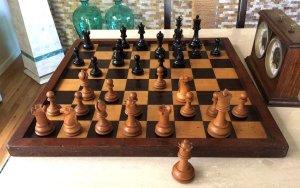 Antique British Chess Company Staunton Chessmen