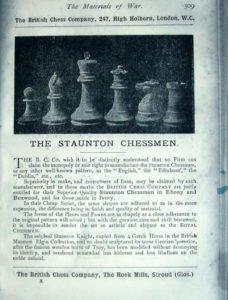 British Chess Company Improved Staunton Chessmen