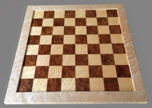 Amboyna Burl Traditional Chessboard
