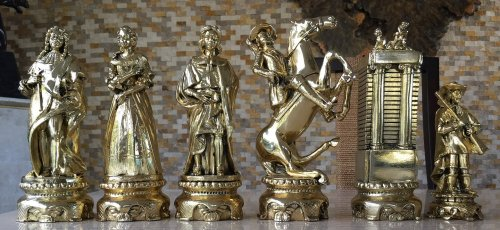 Nigri Silver Plated Renaissance Chess Pieces