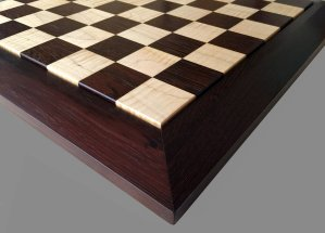 Curly Maple and East Indian Rosewood Chessboard