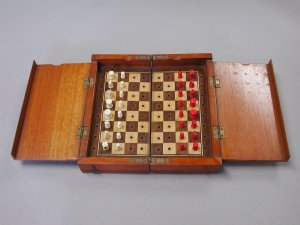 Whittington Bone Portable Chess Set