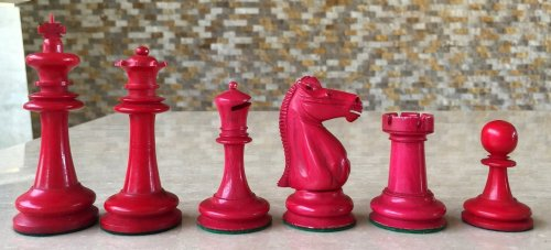 Antique Hybrid Bone Staunton Chessmen
