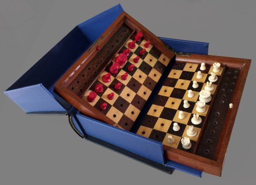 Jaques Ivory Status Quo Travel Chess Set
