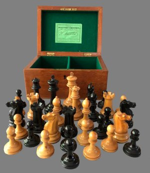 Jaques Tournament Zukertort Chessmen