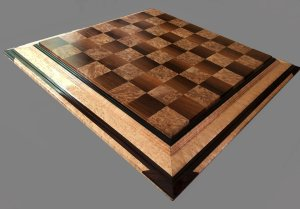 Walnut and Maple Burl Signature Chessboard