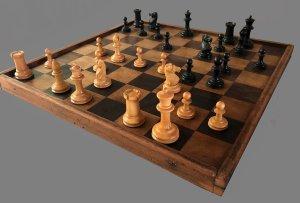Antique Staunton Chessmen, Victorian Period