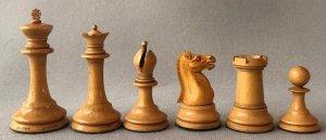 Jaques Tournament Steinitz Chessmen