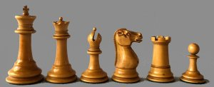 Antique Tournament Size Staunton Chessmen