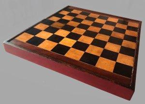 Antique Chess Backgammon Board