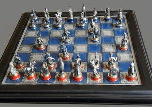 Battle of Waterloo Chess Set by The Franklin Mint