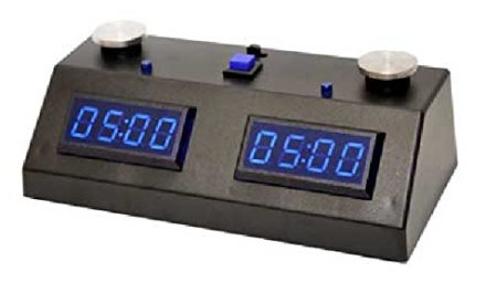 ZMF-II Chess Clock – Black with Blue LED